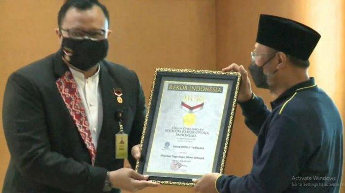 Gelar Acara Puncak Dies Natalis ke-37, Universitas Terbuka Sabet 3 Kategori Rekor MURI