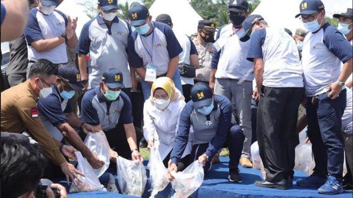 Peringati Hari Air Sedunia di Bendungan Sindang Heula, Ratu Tatu Harap Manfaatnya Bisa Maksimal