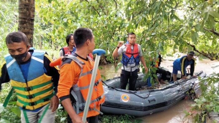 Enam Santri Sempat Terseret Arus Sungai Cisangu Lebak, Lima Selamat, BPBD Masih Mencari Satu Korban
