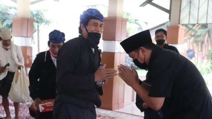 Perwakilan masyrakat Baduy mendatangi rumah dinas Kapolda Banten Irjen Pol Rudy Heriyanto Adi Nugroho, Minggu (23//5/2021).