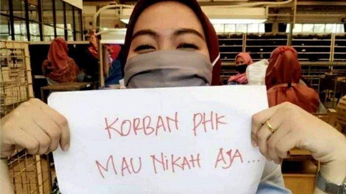 Seorang buruh PT Victory Chingluh, Pasar Kemis, Kabupaten Tangerang memposting foto dan menuai sorotan dari masyarakat.