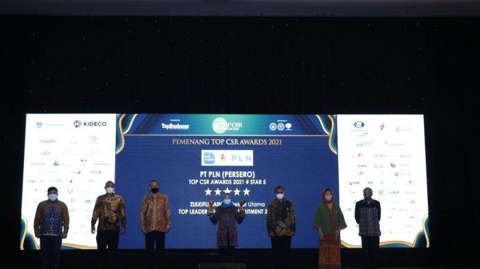 Selamat! PLN Group Raih 9 Penghargaan di Ajang TOP CSR Awards 2021
