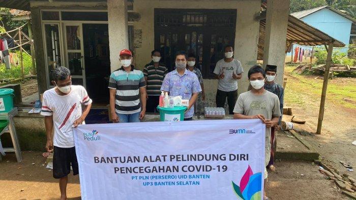 Cegah Covid-19, PLN UID Banten Berikan Bantuan Senilai Rp 80 Juta bagi Warga Sindang Sari Lebak