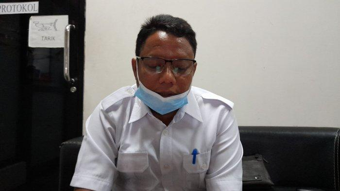 Plt Dinas Kesehatan Kota Serang Ahmad Hasanudin saat diwawancarai TribunBanten.com di kantor Pemerintahan Kota Serang, Rabu (18/8/2021).