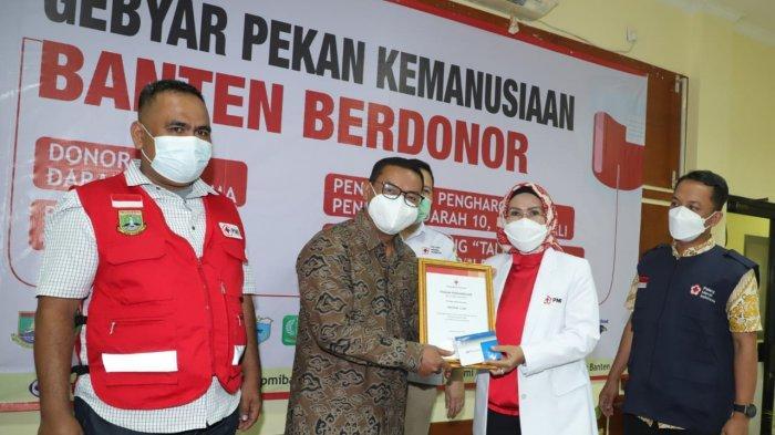 PMI Provinsi Banten Berikan Penghargaan kepada Pendonor Darah, Jasa-jasanya Tak Ternilai