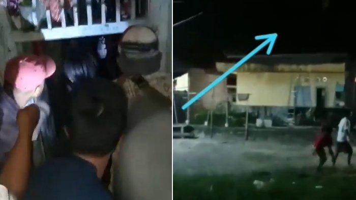 Viral Video Warga Cilegon Kejar Pocong di Genting Rumah, Polisi: Diduga Maling Pakai Jaket Putih