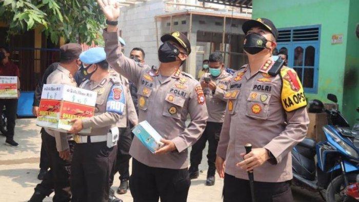 Polda Banten Kunjungi Anggotanya yang Sedang Isoman Karena Terpapar Covid
