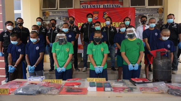 11 Tersangka Ditangkap di Lebak, Termasuk Kepala Minimarket yang Curi dan Bakar Tokonya Sendiri