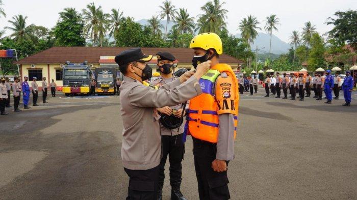 Siap Siaga Bencana Alam di Pandeglang, Polres Gelar Apel Antisipasi Kontingensi
