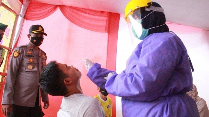 Polres Serang Kota Gelar Tes Swab Antigen bagi Warga Serang dan Luar di GT Tol Serang TImur, Gratis!
