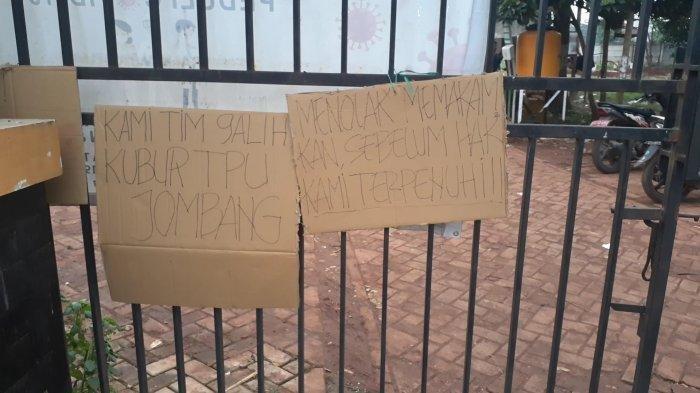 Penggali Makam Covid-19 di TPU Jombang Unjuk Rasa, Janji Rp 1 Juta per Lubang Belum Direalisasi