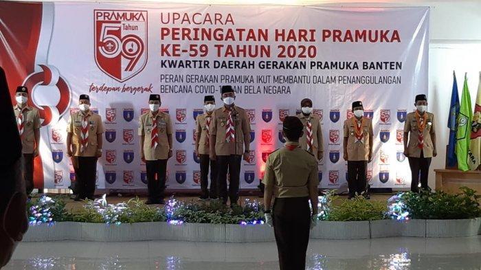 Gerakan Pramuka Garda Terdepan Penanganan Covid-19 di Banten