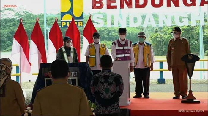 Resmikan Bendungan Sindang Heula Banten, Jokowi Harap Bisa Jadi Destinasi Wisata Baru
