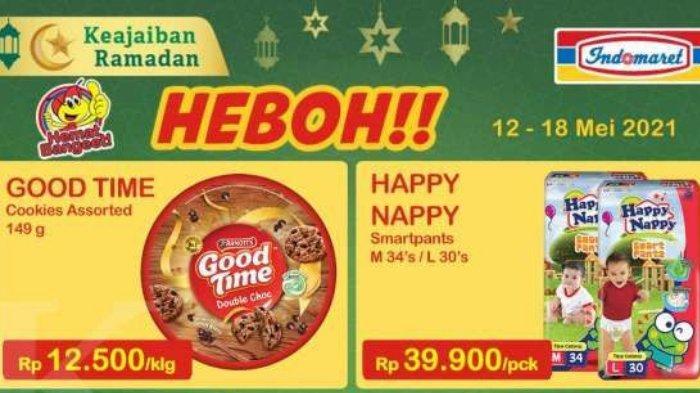 PROMO Indomaret Terbaru 12 - 18 Mei 2021, Ekstra Diskon Bayar Pakai ShopeePay, Good Time 12.500/Klg