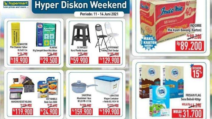Promo Hypermart Hyper Diskon Weekend 11-14 Juni 2021, Beli 1 Gratis 1 & Diskon 50% Produk Pilihan