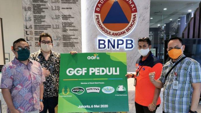 GGF Suplai Susu, Jus, dan Pisang kepada BNPB Seminggu Sekali Selama Sebulan
