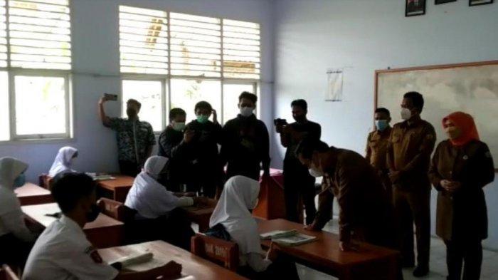 PTM untuk Siswa SMP di Serang Berjalan Kondusif, Belum Ada Laporan Siswa Terpapar Covid-19
