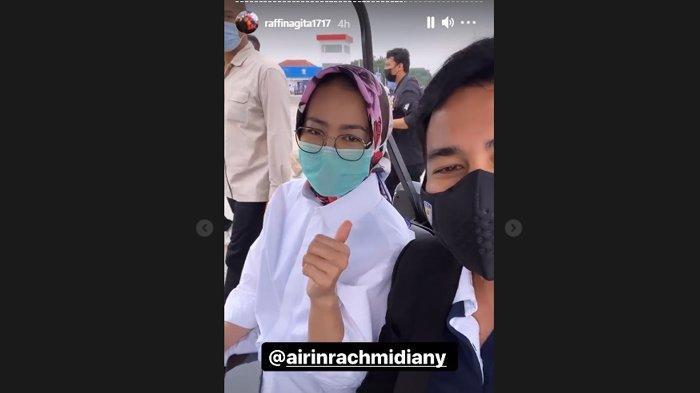 Raffi Ahmad bersama Wali Kota Tangerang Selatan, Airin Rachmi Diany