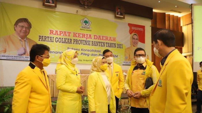 DPD Partai Golkar Provinsi Banten menggelar Rapat Kerja Daerah, Jumat (16/4/2021).