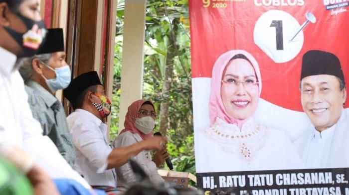 Pasangan calon nomor urut 1 pada Pilkada Kabupaten Serang, Ratu Tatu Chasanah-Pandji Tirtayasa (Tatu-Pandji) menggelar kampanye di tempat berbeda, pada Senin (12/10/2020).