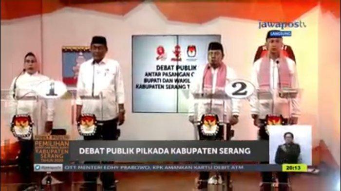 Adu Konsep e-government Calon Bupati Serang Nomor Urut Satu dan Dua di Debat Publik Ketiga