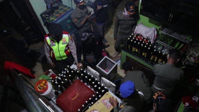 Polres Serang Amankan Ratusan Botol Miras, Anak Punk dan 3 Wanita dari Warung Remang-Remang
