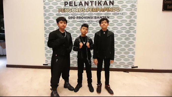 Boy Band Cilik Asal Serang Ribivan Boyz Tampil Perdana di Pelantikan Perparindo Banten