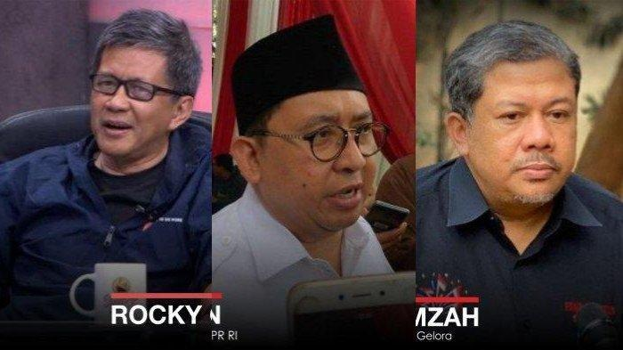 Tanggapan Rocky Gerung, Fadly Zon, dan Fahri Hamzah Soal Penghentian Kegiatan FPI oleh Pemerintah