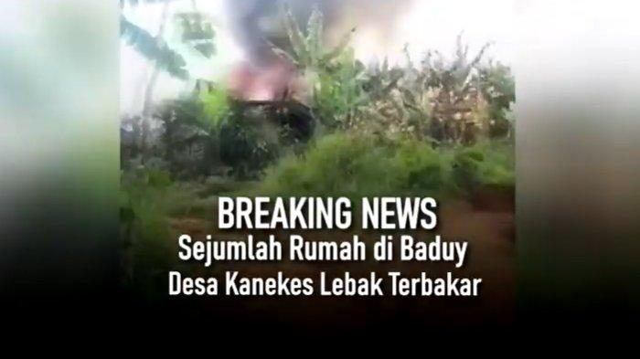 Belasan Rumah Warga Baduy Luar Ludes Terbakar, BPBD Lebak: Penyebabnya Masih Diselediki