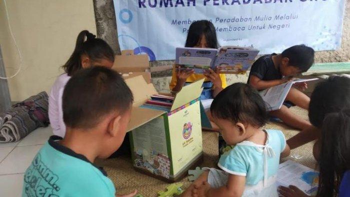 Ada Taman Baca di Rumah Peradaban SNC Serang, Kurangi Kecanduan Anak dari Gadget