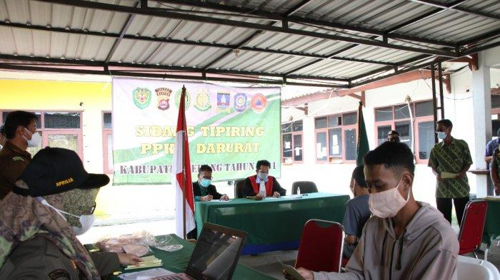 Langgar PPKM Darurat Kabupaten Serang, 20 Orang Jalani Sidang Tindak Pidana Ringan
