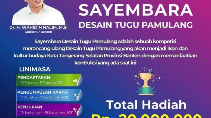 Antusias, 1013 Warga Banten Ikut Sayembara Desain Tugu Pamulang agar Tak Mirip Toren Air