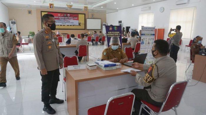 894 Polisi di Kabupaten Lebak Divaksin Covid-19