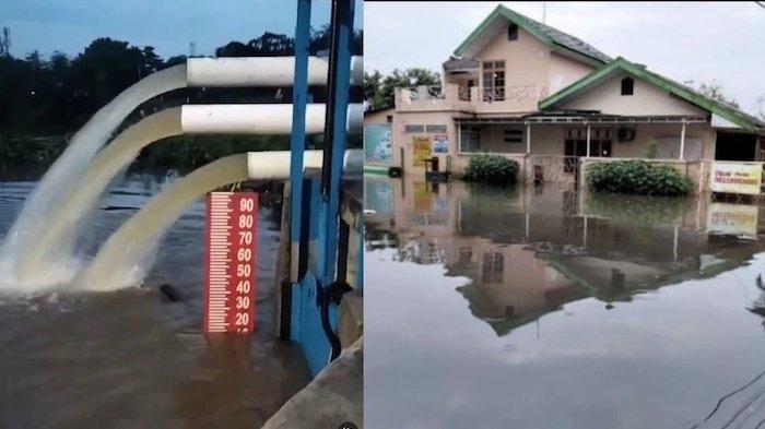 Hujan Deras, Sejumlah Kawasan di Ciledug Banjir, Debit Kali Angke Perum Ciledug Indah Siaga 1