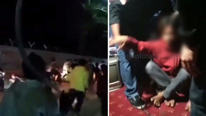 Video Sekelompok Pemuda Acung-acungkan Senjata Tajam, Warga: 1 Orang Ditangkap Dekat Lapangan Porci
