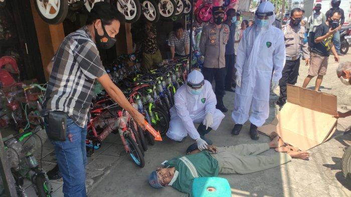 Seorang Kakek Mendadak Ambruk dan Tewas di Pasar Ciruas, Korban Dibiarkan Karena Khawatir Covid-19