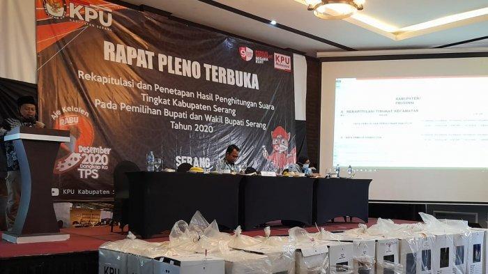 Hasil Pleno KPU Kabupaten Serang: Pasangan Ratu Tatu-Pandji Tirtayasa Unggul 429.054 suara