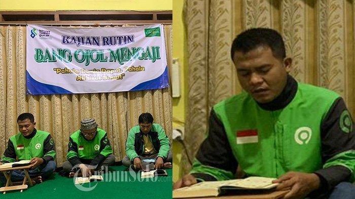 Kisah Ramadan: Pengemudi Ojek Baca Al-Quran Saat Tunggu Order, Ikut Pengajian Online