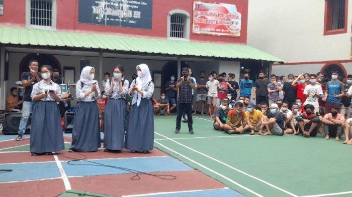 Siswa SMAN 1 Kota Serang Study Tour ke Rutan Kelas IIB Serang, Puji Masakan Buatan Warga Binaan