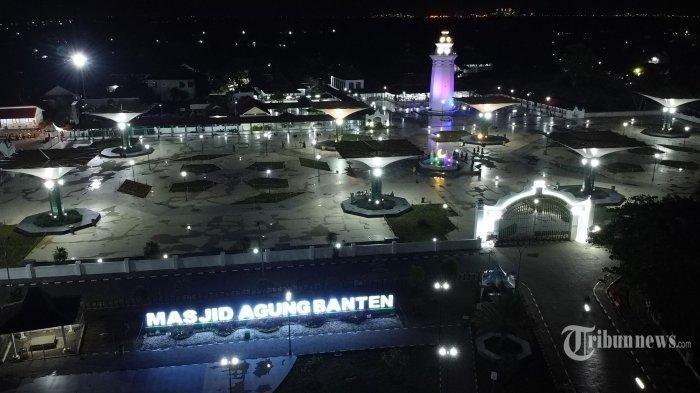 Masjid Agung Banten Bersiap Gelar Salat Tarawih Berjemaah Saat Pandemi dengan Prokes