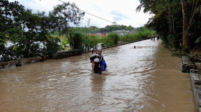 Banjir di Kasemen, Pohon Tumbang di Pencanangan dan Panggung Jati, Tagana dan BPBD Jaga-jaga