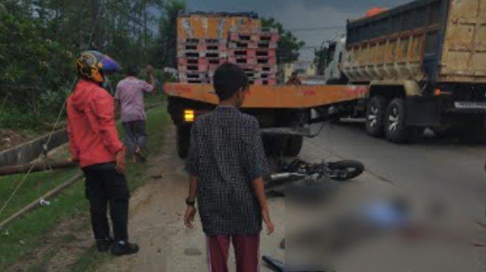 Tabrak Belakang Truk yang Sedang Parkir, Pengendara KLX Tewas di Jalan Raya Cikande-Rangkasbitung