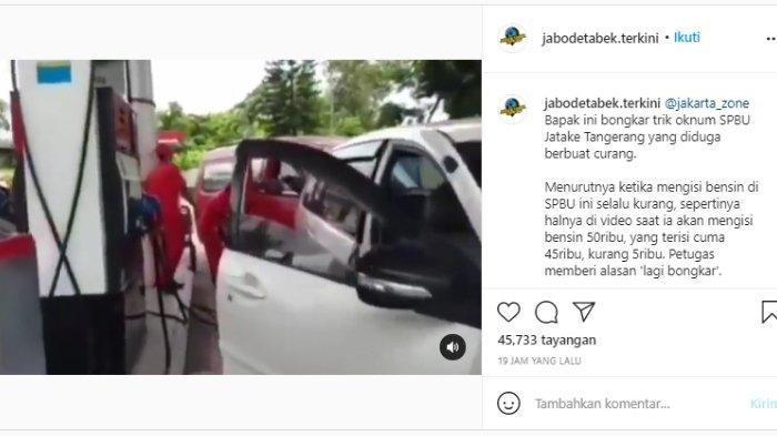 VIRAL Video Warga Protes dan Bongkar Kecurangan Petugas Pom Bensin di Jatake Tangerang