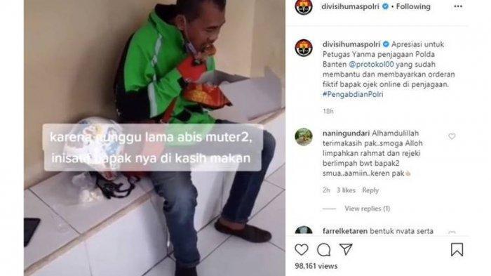 Viral Video Anggota Polda Banten Patungan Bayar Orderan Fiktif Driver Ojol