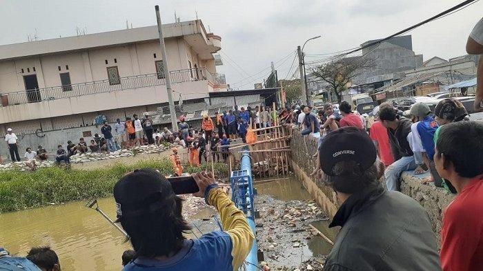 Jasad Bocah Tenggelam di Jembatan Kali Total Persada Ditemukan