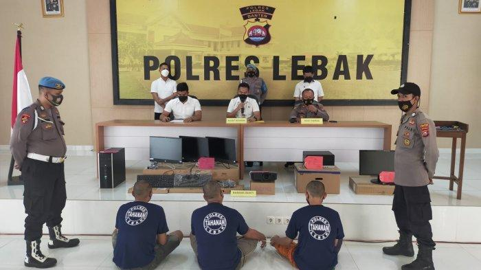 Tiga Anggota Komplotan Pencuri 37 Laptop SMAN 1 Cihara Lebak Tertangkap, Dua Masih Buron