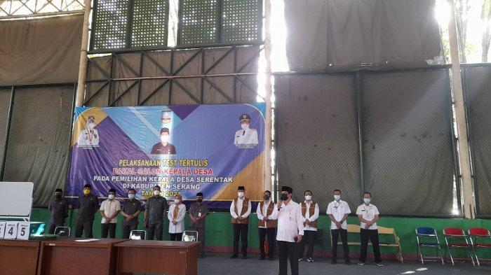Tes Tertulis Bacalon Kepala Desa Kabupaten Serang Digelar di 3 Tempat, Panitia Terapkan Prokes Ketat