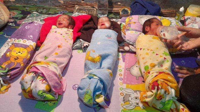 Warga Kabupaten Serang ini tak Menyangka Melahirkan 3 Bayi Kembar, Satu Perempuan dan Dua Laki-laki