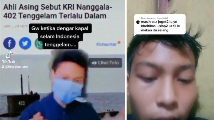 Viral Video Pemuda Buat Video Tak Pantas Soal Tragedi KRI Nanggala 402
