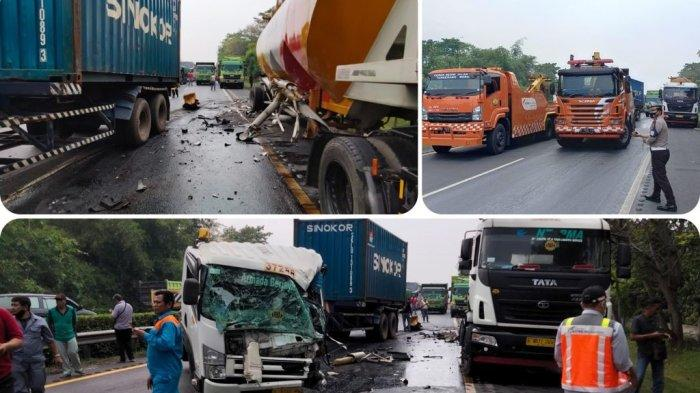Truk Tabrak Mobil Berhenti di Bahu Jalan Tol Tangerang-Merak Arah Jakarta, Ini Kronologinya